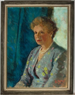 A. Pettet - Framed 1961 Oil, Portrait of a Lady