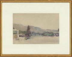 Attrib. Sir Alfred East RA RBA - Late 19th Century Watercolour, Riverside View
