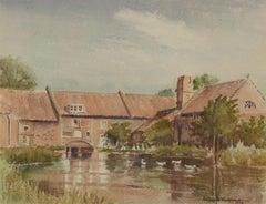 Audrey Vaulkhard - Signed & Framed 1975 Watercolour, Quiet Village