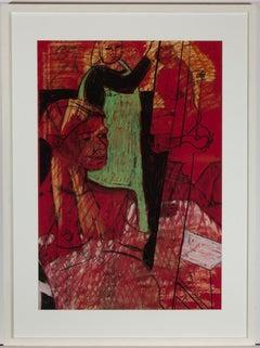 Jain Wallis - Signed & Framed Contemporary Pastel, Liferoom