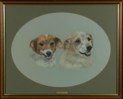 Jay Jaselton - 1998 Pastel, Two Terriers