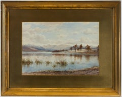 Edward Tucker Jnr (1847-1910) - Late 19th Century Watercolour, Lake Scene