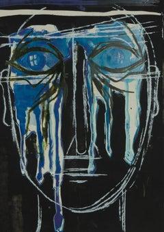 Mircea Marosin (1921-2007) - Contemporary Silkscreen, Crying Figure