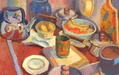 R. Mot - Mid 20th Century Oil, Kitchen Counter