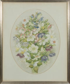 E.S. Bisset - 20th Century Watercolour, Spring Posy