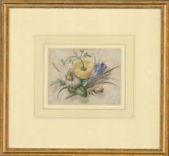Follower of James Holland (1799–1870) - 19th Century Watercolour, Flowers