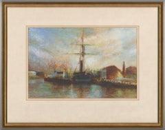 C. Vincent - Signed 1995 Gouache, S.S. Great Britain in Bristol Harbour