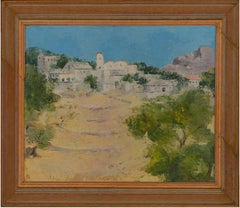Arthur E. Hance - Framed Contemporary Oil, Deserted Village, Tinos, Greece