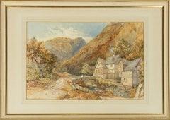 Philip Mitchell RI (1814-1896) - 19th Century Watercolour, Crossing a Stone