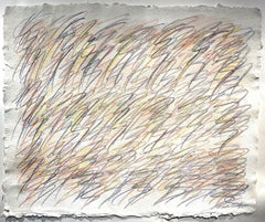 Drawing on Handmade Paper #7222020, Drawing, Pencil/Colored Pencil on Paper