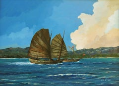 2124 Sampan, Painting, Oil on Other