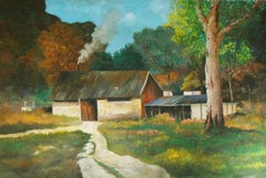 4807 Dairy products barn, Painting, Oil on Canvas