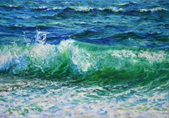 Affectionate surf, Painting, Oil on Canvas