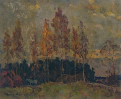 Autumn trees, Painting, Oil on Canvas