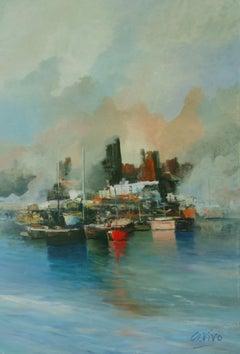 4556  Focos de niebla, Painting, Oil on Canvas