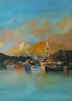 4655 Gibraltar bay, Painting, Oil on Canvas