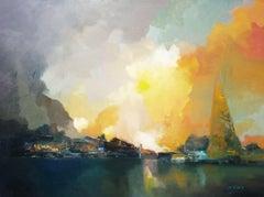 3666  Antigua Aduana de Punta del Este, Painting, Oil on Canvas