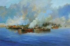 4770 Fog,smoke,evaporation, Painting, Oil on Canvas