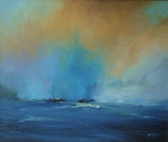 1329 Fishermen by the sea, Painting, Oil on Canvas
