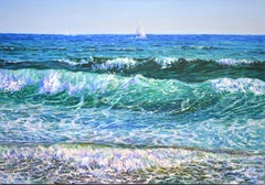 Sea. The waves., Painting, Oil on Canvas