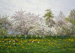 Apple Orchard, Painting, Oil on Canvas