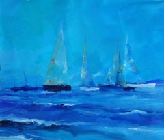 4670  Sailing confussion, Painting, Oil on Canvas