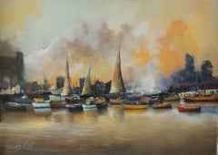 4333 White smoke, Painting, Oil on Canvas