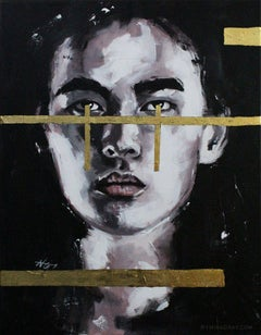 Two (GOLD SERIES), Painting, Acrylic on Canvas