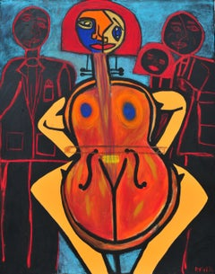 Cello, Painting, Acrylic on Canvas