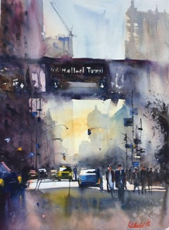 Holland Tunnel NYC, Painting, Watercolor on Paper