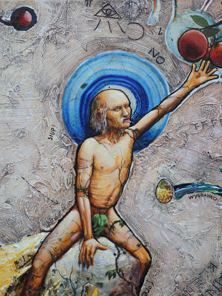 The Expulsion from the Garden of Eden, Painting, Oil on Canvas For Sale 1
