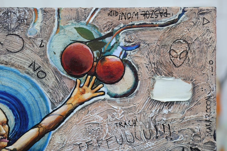The Expulsion from the Garden of Eden, Painting, Oil on Canvas For Sale 3