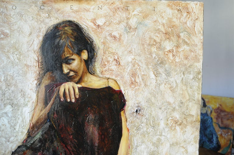 Innocentia, Painting, Oil on Canvas For Sale 4