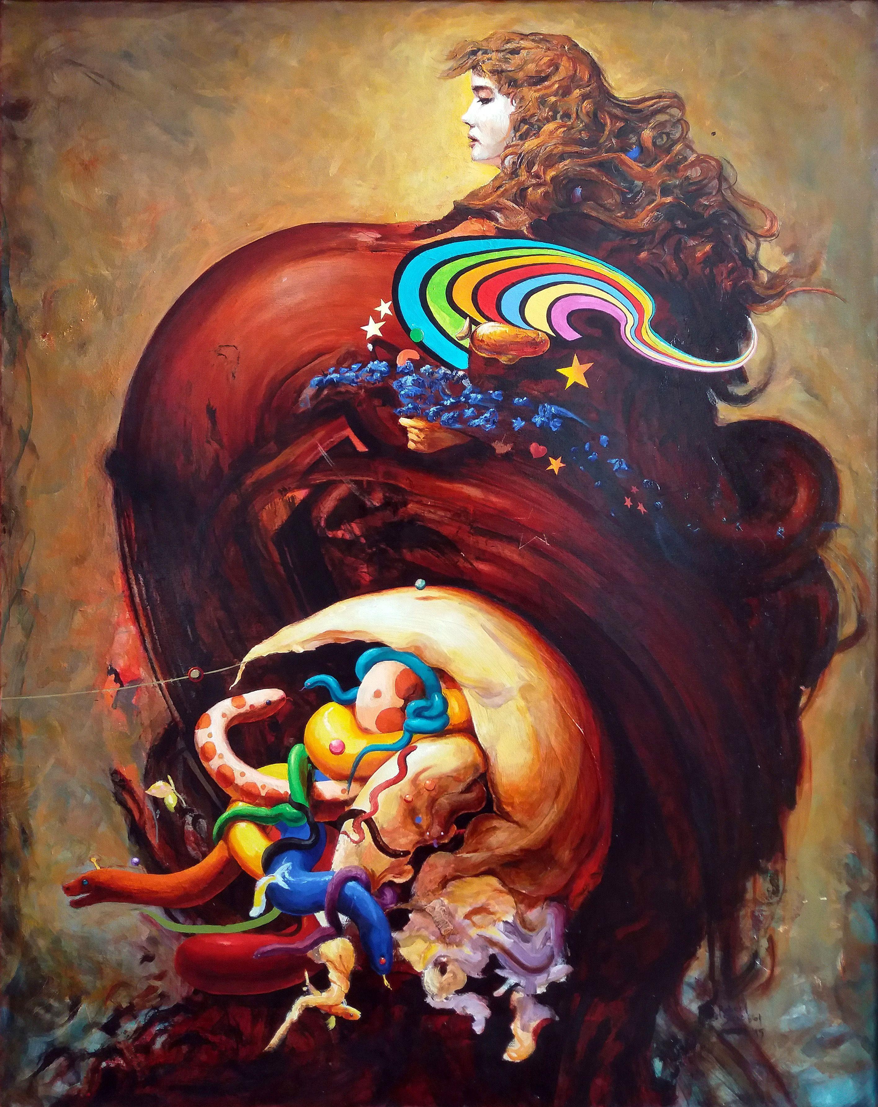 Singularity portrait, Painting, Oil on Canvas
