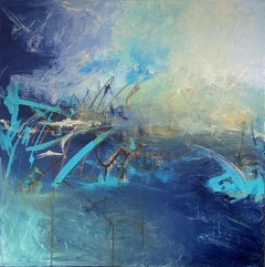 Turbulent Seas, Painting, Acrylic on Canvas