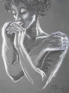 Sweet Memories - Portrait Of A Woman, Drawing, Pastels on Paper