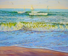 Weekend at sea., Painting, Oil on Canvas