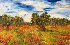 Oliviers en Provence, Painting, Oil on Canvas