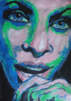 You Are Amazing - Portrait Of A Woman, Painting, Acrylic on Paper