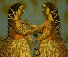 Heart Keys, Painting, Oil on Canvas