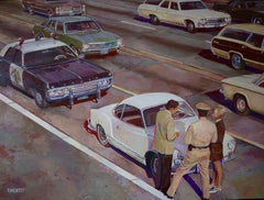 """""""Police control"""", Painting, Oil on Canvas"""