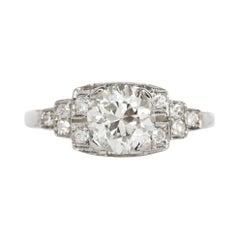 1.24 Carat Diamond White Gold Engagement Ring