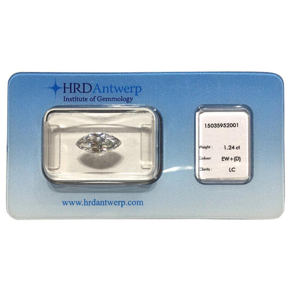 1.24 Carat HRD Certificate White Marquise Diamond