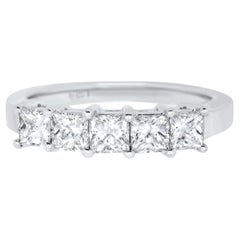 Five Stone Princess Cut Diamond Band