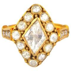 1.24 Carat Rose Cut Diamond Ring