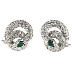 1,24 Carat White Diamond, 18karat White Diamond Modern Earring