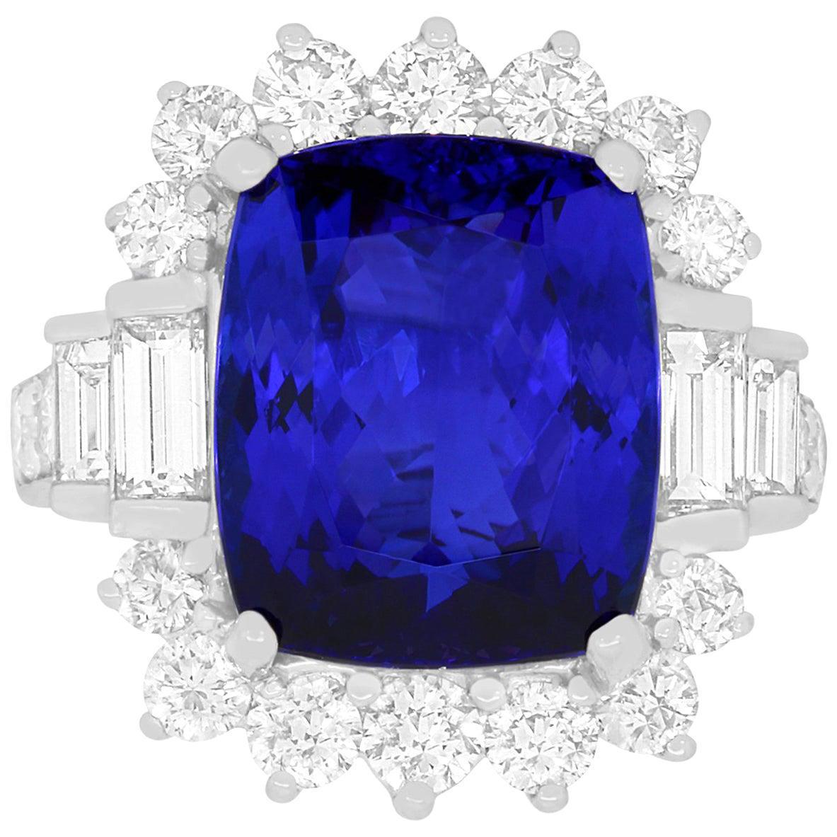 An Alberto tanzanite and diamond ring