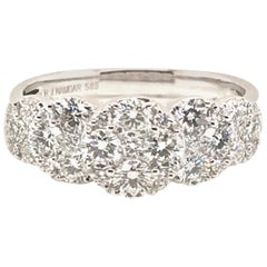 1.25 Carat 5-Section Round Cluster Diamond Ring