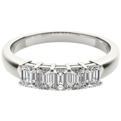 1.25 Carat 5-Stone Emerald Cut Diamond Band Ring