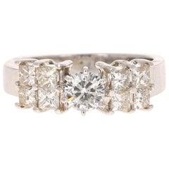 1.25 Carat Diamond 14 Karat White Gold Engagement Ring